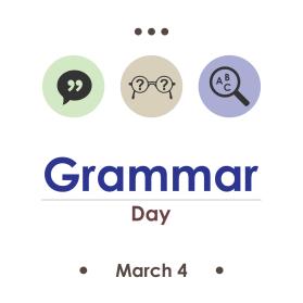 National Grammar day 2019