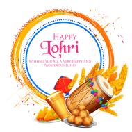 Happy Lohri 2020 holiday background for Punjabi festival
