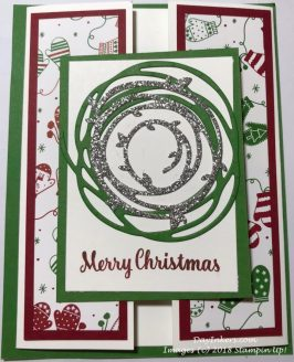 Christmas Gate Fold Card Stampin Up!
