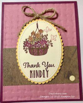 Hanging Garden Card Stampin Up