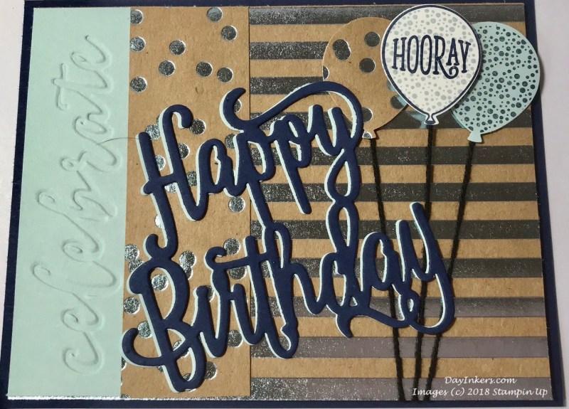 Foil Frenzy masculine birthday card swap