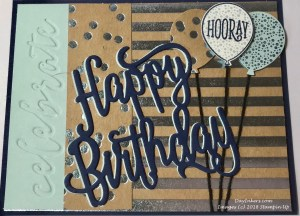 Foil Frenzy masculine birthday card swap