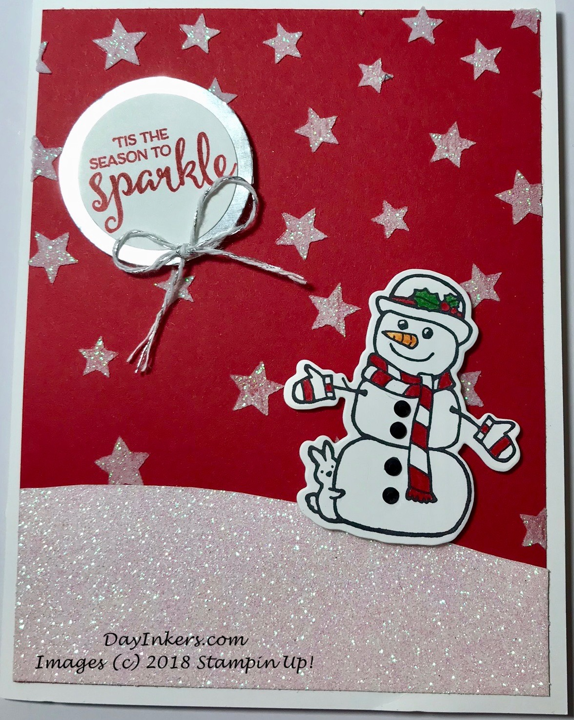 Season to Sparkle with Embossing paste and Glitter paper