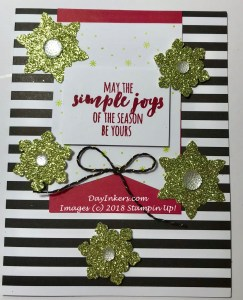 Stampin Up Broadway Star Christmas Card