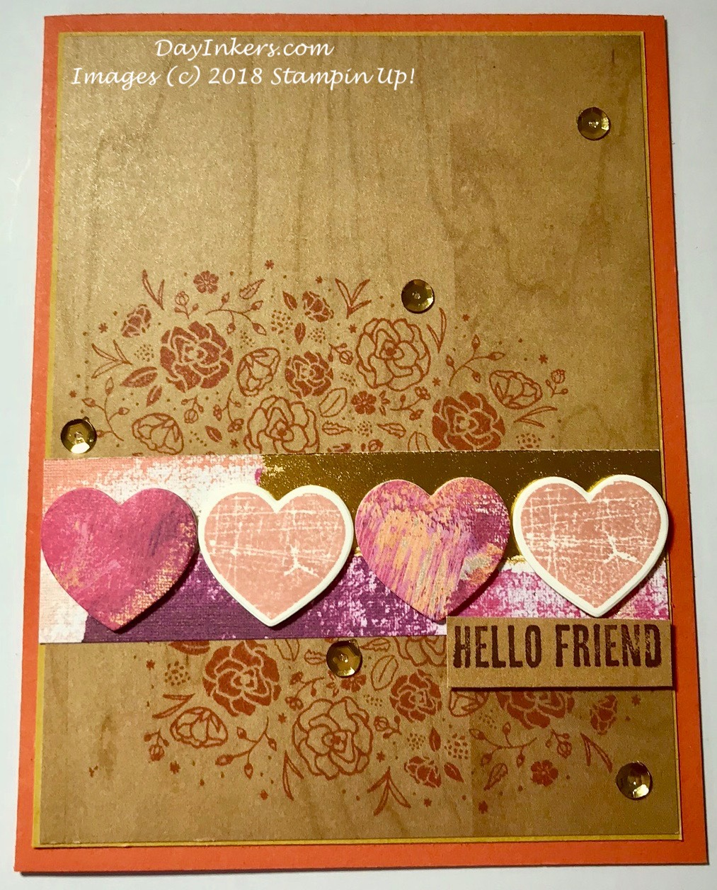 Stampin Up Wood Textures DSP with Wood Words