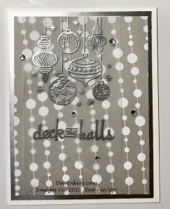 Beautiful Baubles and Broadway Bound DSP from Stampin Up