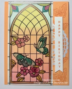 Stampin Up Painted Glass Bookmarks