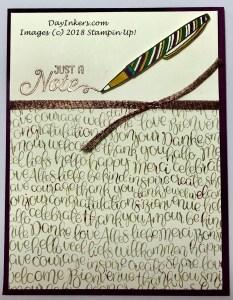 Stampin Up Handwritten CASE