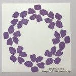 Wreath made with Stampin Up Stamparatus