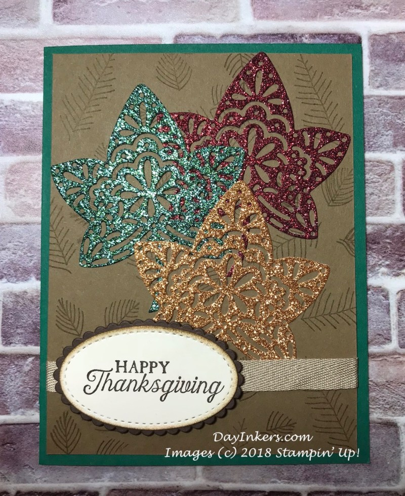 Stampin' Up! Falling for Leaves Thanksgiving card