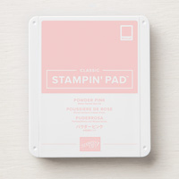 Stampin Up Classic Ink Pad Powder Pink