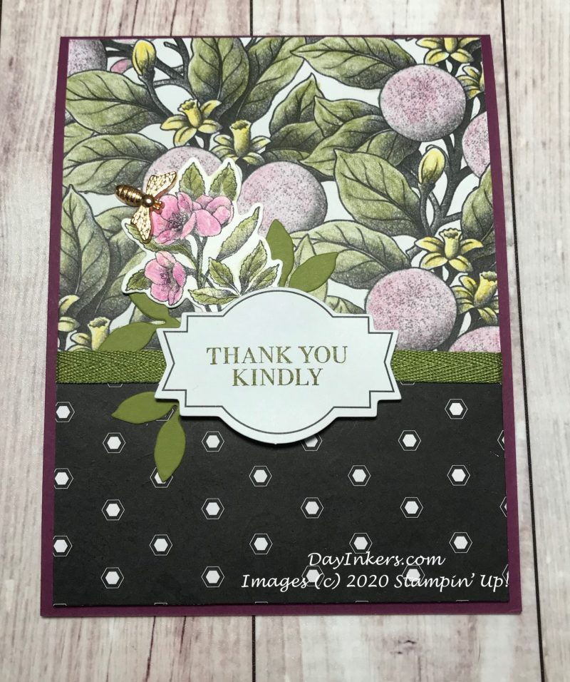 Botanical Prints Medley card with watercoloring