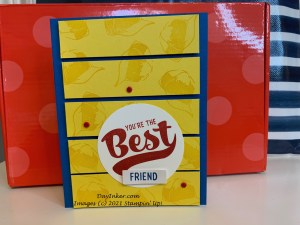 Batter Up! Paper Pumpkin Alternate card using the exclusive stamps from the Stampin' Up! kit