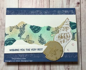 Friends are Like Seashells card using the torn paper technique from the Stampin' Up Annual Catalog