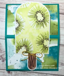 Easel card made with the Kiwi popsicle from the You're So Cool Paper Pumpkin April 2021 kit.
