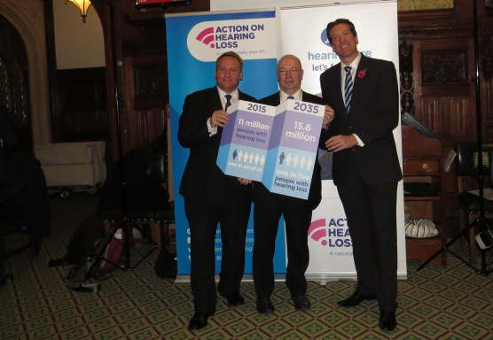 Paul Breckell CEO - AOHL, Alistair Burt MP and Jonathan Gardner Boots - Hearing Care