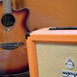 11 a.m. —Another of Joshua's guitars is a LAG acoustic auditorium edition, pictured with an ORANGE 50-watt amp in Glenham, S.D., on Tuesday, April 14, 2020