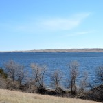3 p.m. — Fresh air, this view of Lake Oahe and spring weather helps Joshua get through this time of quarantine in Glenham, S.D., on Tuesday, April 14, 2020.