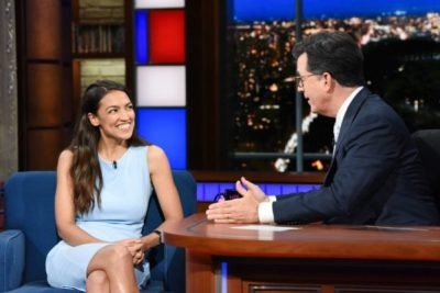 Ocasio Cortez on Colbert