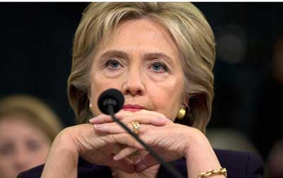 Hillary Clinton at Benghazi hearings, October 2015
