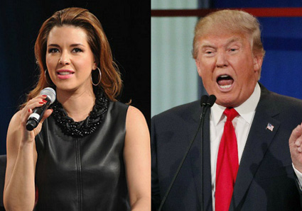 Alicia Machado and Trump
