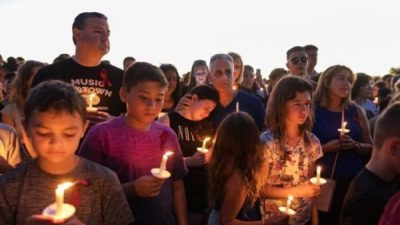 Vigil for shooting victims