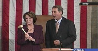Pelosi surrenders gavel to Boehner