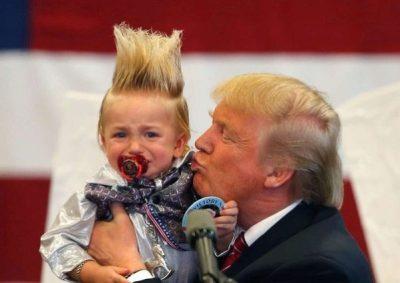 Trump kisses mini-me