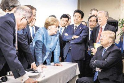 Merkel-Trump face-off