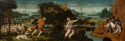 Aristaeus pursuing Eurydice.