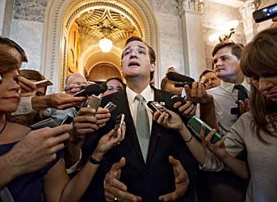 Cruz meets the press