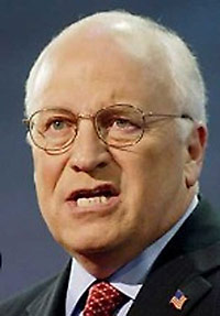 Dick Cheney snarling