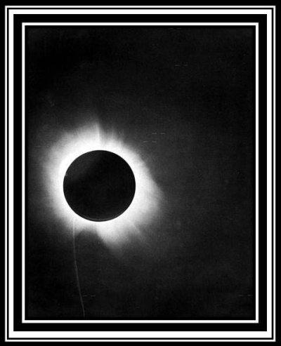 Albert Einstein, Solar Eclipse Photo, 1919