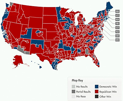 Midterm Election Map 2010