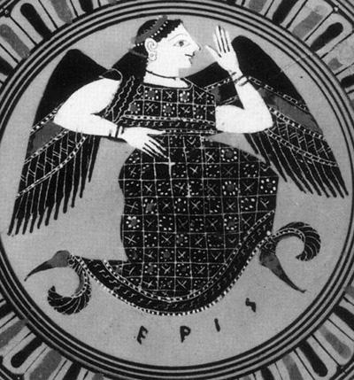 Greek depiction of Eris