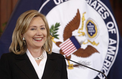 Happier days... HIllary as Secretary of State