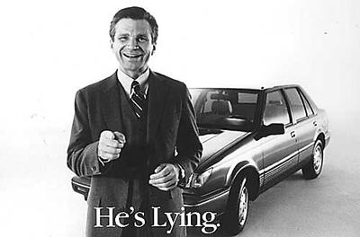 Joe Isuzu, commercial liar
