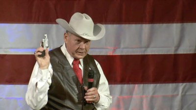Roy Moore with pop gun