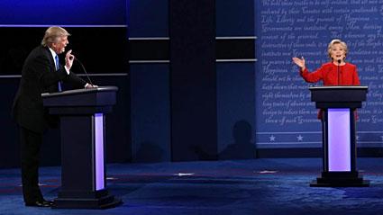 Trump and Clinton, poles apart
