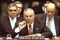 Colin Powell making the case for invasion
