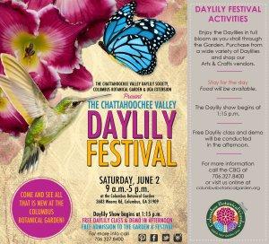 Chattahoochee Valley Daylily Festival ad - 2018