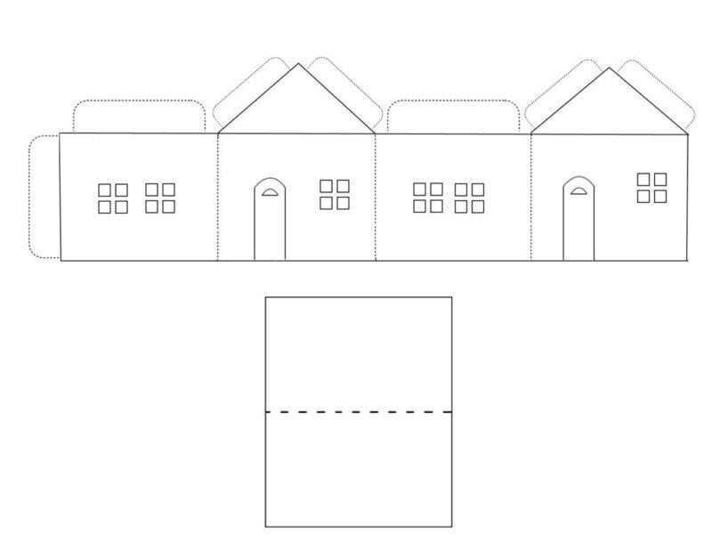 фотосессия картинки шаблон бумажного домика с размерами сектор