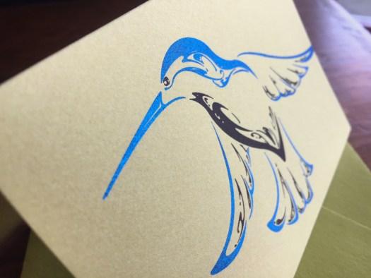 Bronzed hummingbird cards