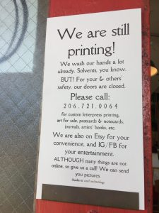 We are still printing!