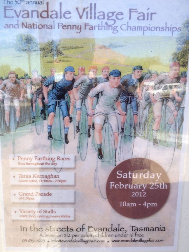 Poster for Village Fair and National Penny Farthing Championship