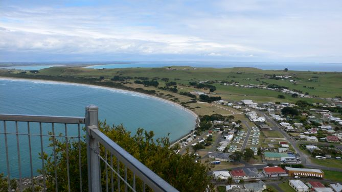Looking back down the spit from the Nut