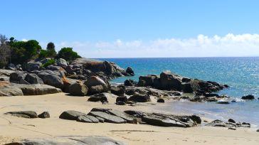 Fantasic blue water of Bass Strait