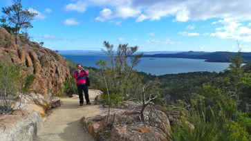 Coles Bay from Wineglass Bay Track
