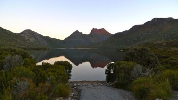 Sunset from Dove Lake car park
