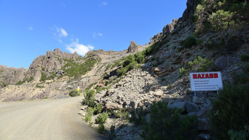 Warning at start of ascent of Jacob's Ladder